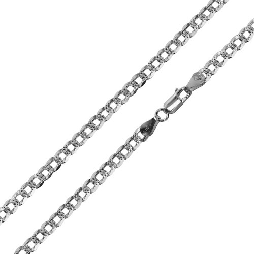 925 Sterling Silver 4.5mm Polished Anchor Link Chain Necklace 7-24