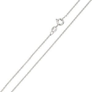 Wholesale Sterling Silver 925 Rhodium Plated Anchor 025 Chain 1mm
