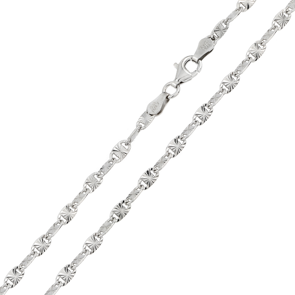 Sterling Silver Rhodium-plated 1.7mm Diamond-cut Rope Chain