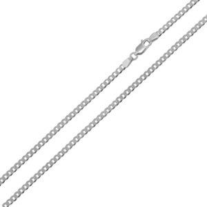 Wholesale Sterling Silver 925 Rhodium Plated Super Flat Curb 050 Chain 1.9mm